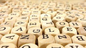 イタリア語のアルファベットと数字